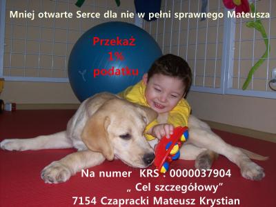 Mateusz Czapracki - apel o pomoc 1%